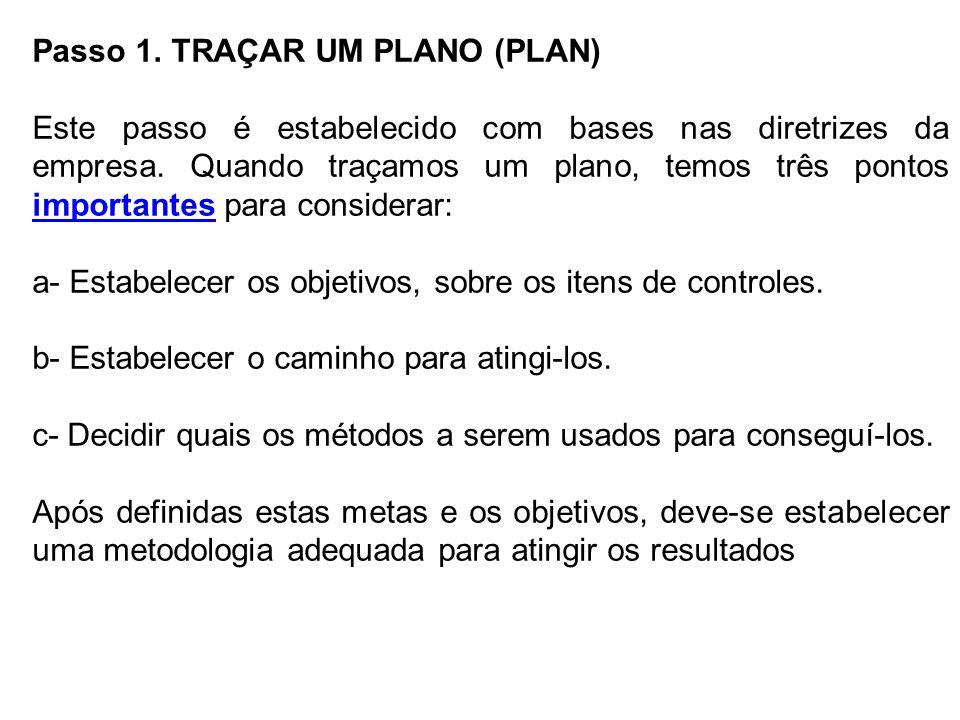 Passo 1. TRAÇAR UM PLANO (PLAN)