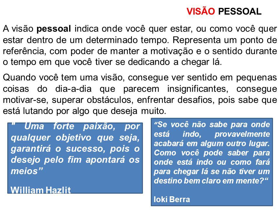 VISÃO PESSOAL