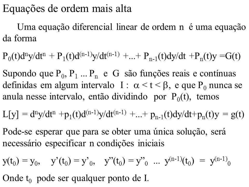 Equações de ordem mais alta