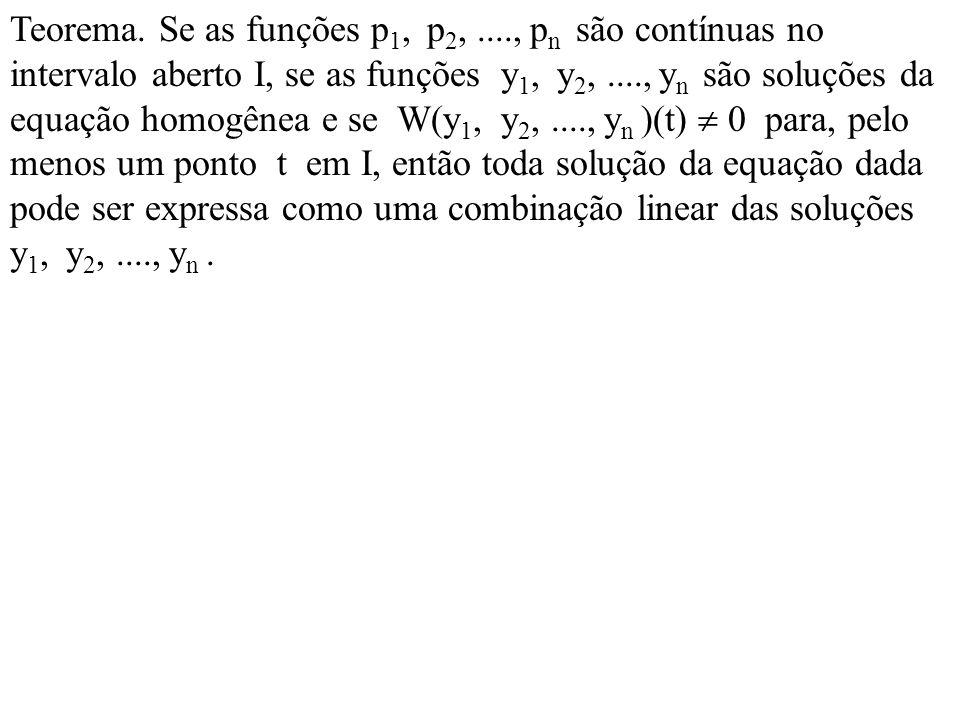 Teorema. Se as funções p1, p2,