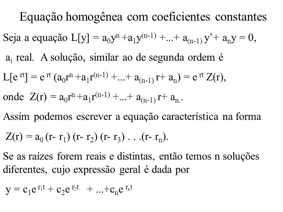 Equação homogênea com coeficientes constantes