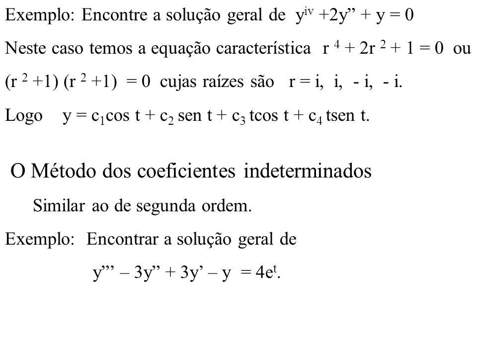 O Método dos coeficientes indeterminados