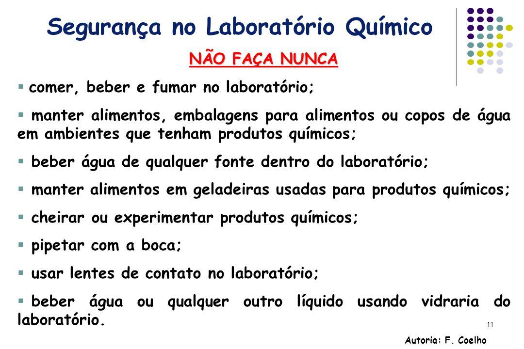Segurança no Laboratório Químico