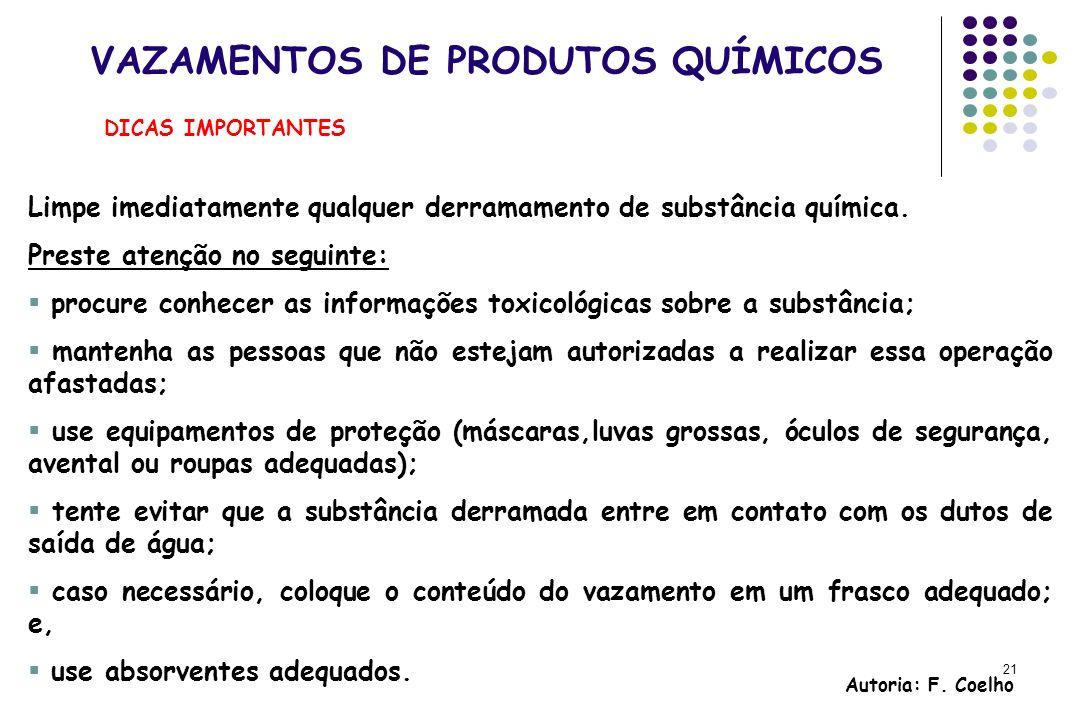 VAZAMENTOS DE PRODUTOS QUÍMICOS