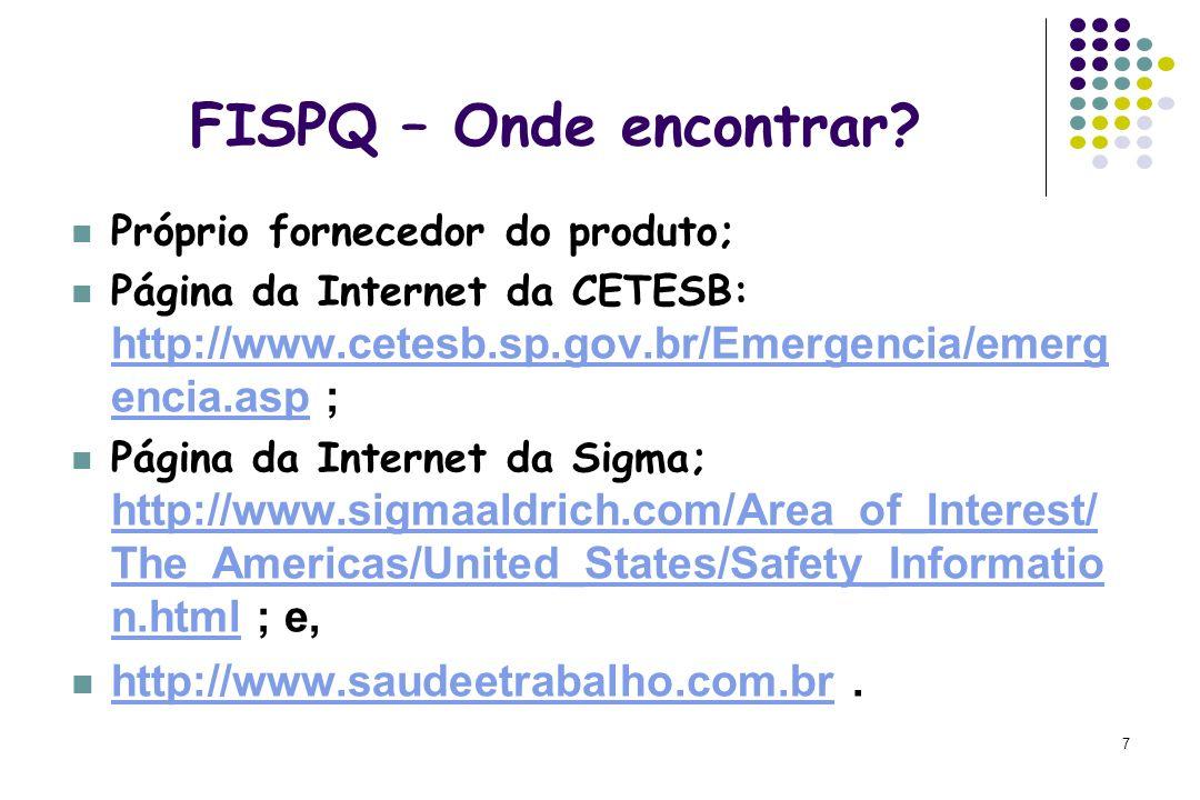 FISPQ – Onde encontrar http://www.saudeetrabalho.com.br .