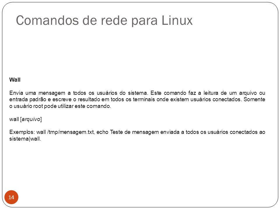 Comandos de rede para Linux