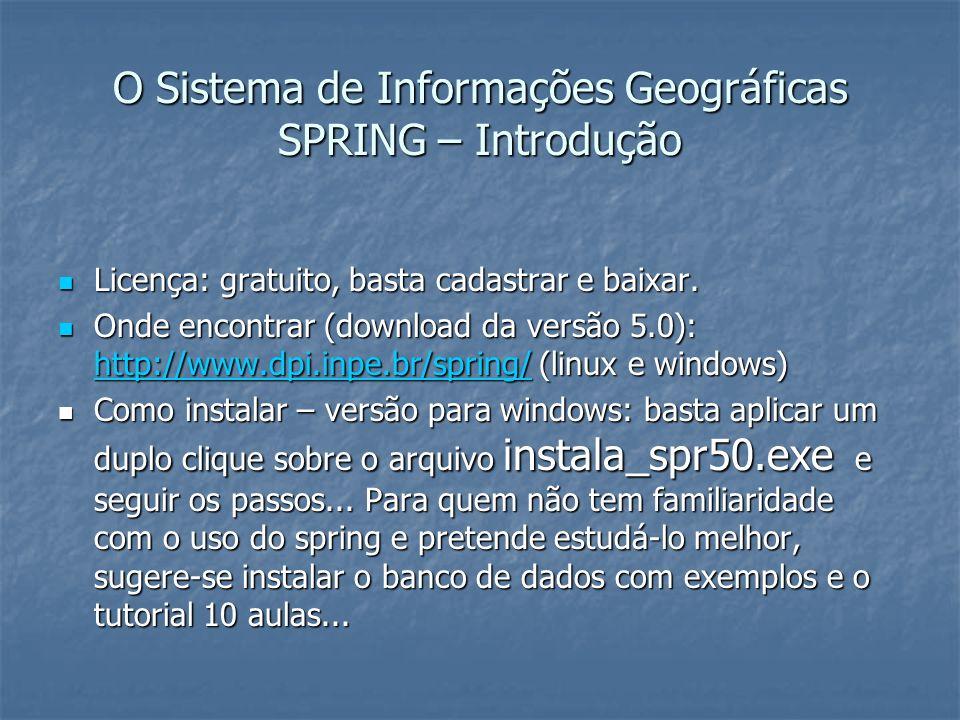 O Sistema de Informações Geográficas SPRING – Introdução