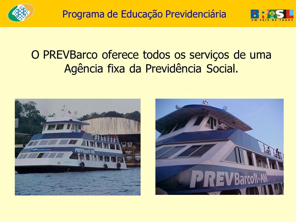 O PREVBarco oferece todos os serviços de uma Agência fixa da Previdência Social.