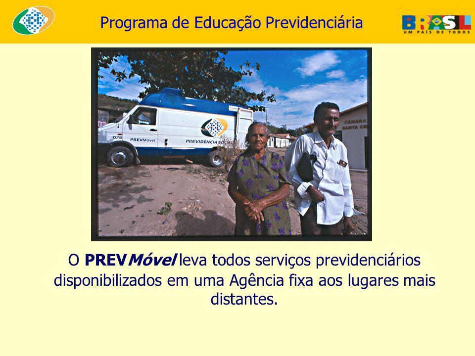 O PREVMóvel leva todos serviços previdenciários disponibilizados em uma Agência fixa aos lugares mais distantes.