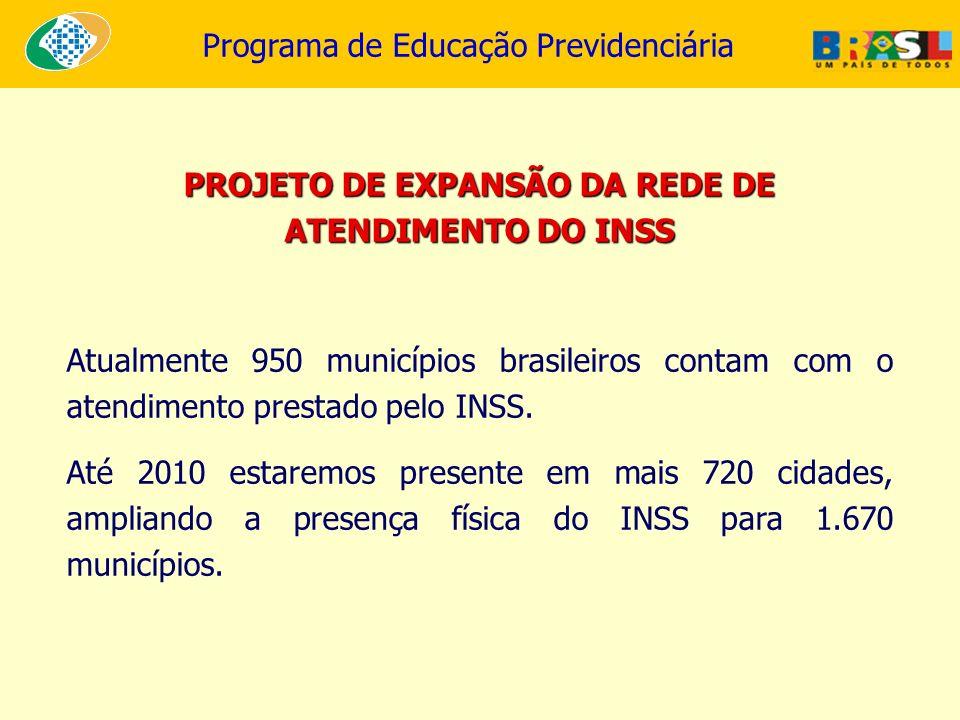 PROJETO DE EXPANSÃO DA REDE DE ATENDIMENTO DO INSS