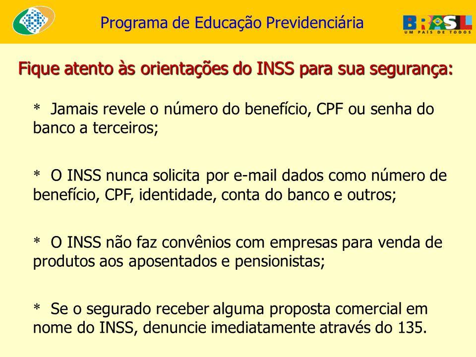 Fique atento às orientações do INSS para sua segurança: