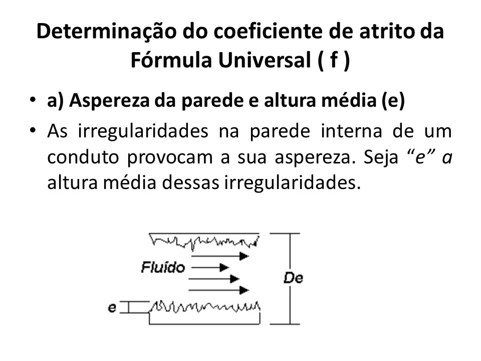 Determinação do coeficiente de atrito da Fórmula Universal ( f )