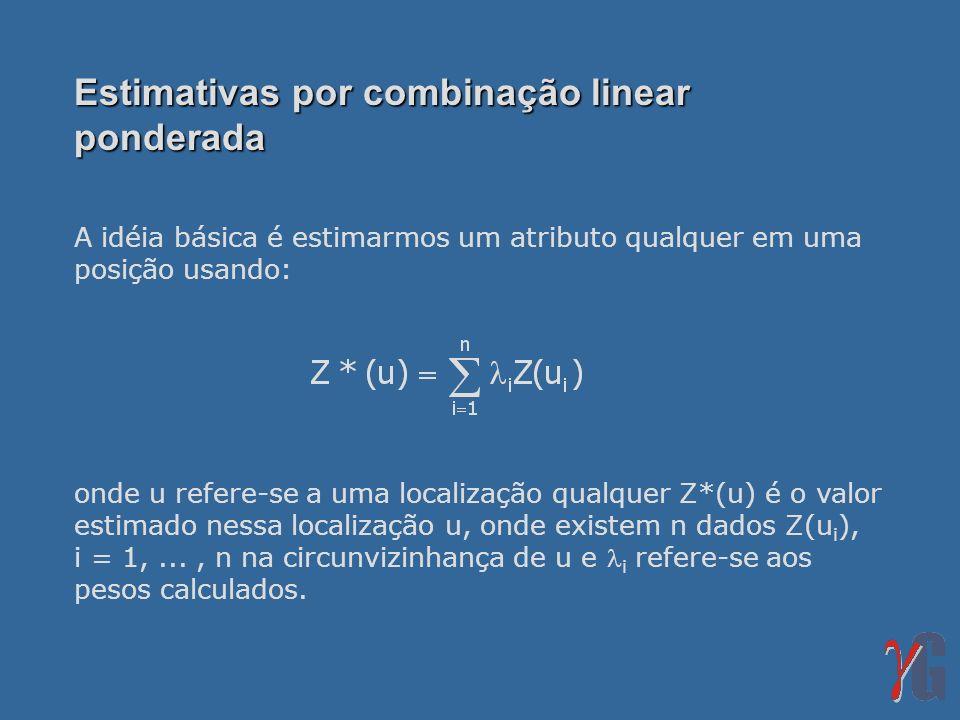 Estimativas por combinação linear ponderada