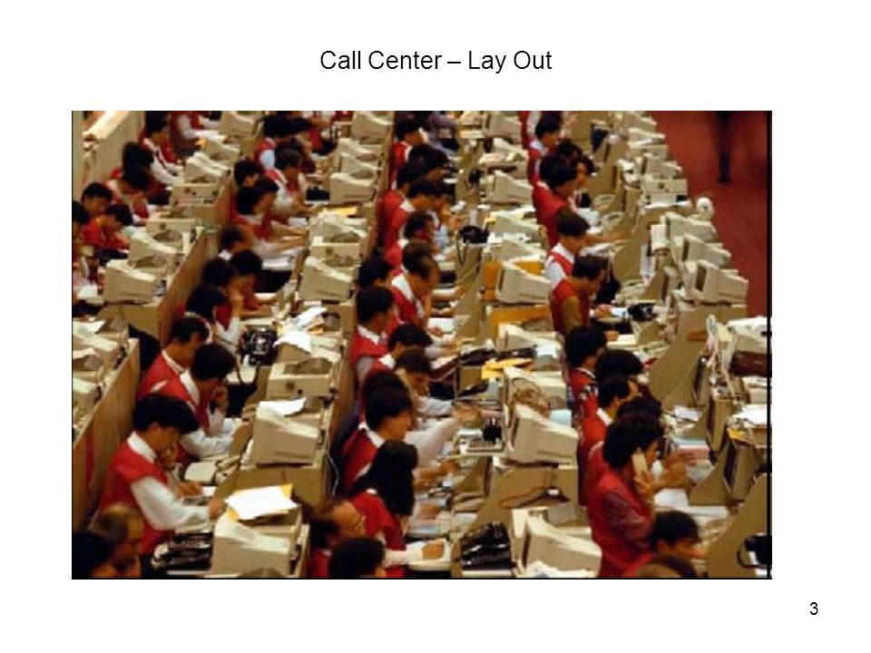 Call Center – Lay Out