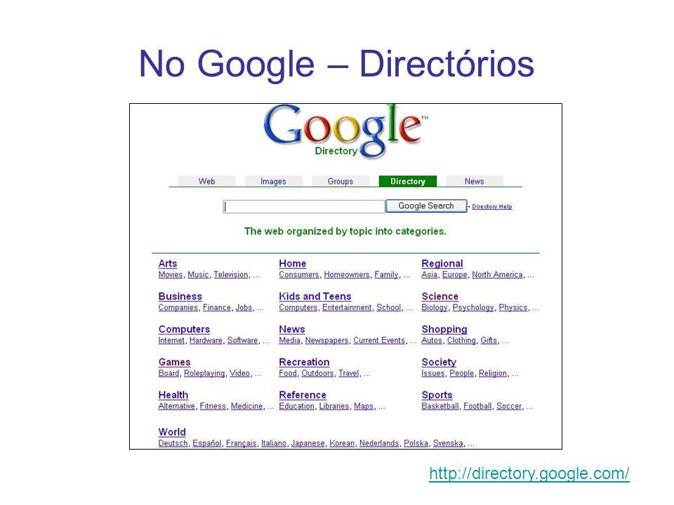 No Google – Directórios