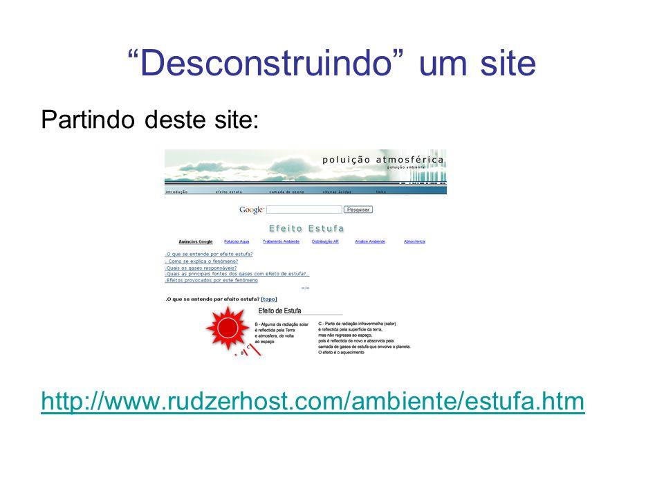 Desconstruindo um site