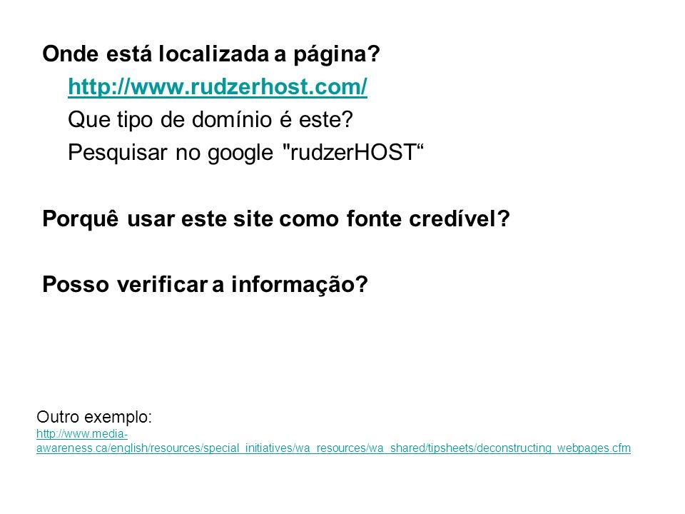 Onde está localizada a página http://www.rudzerhost.com/