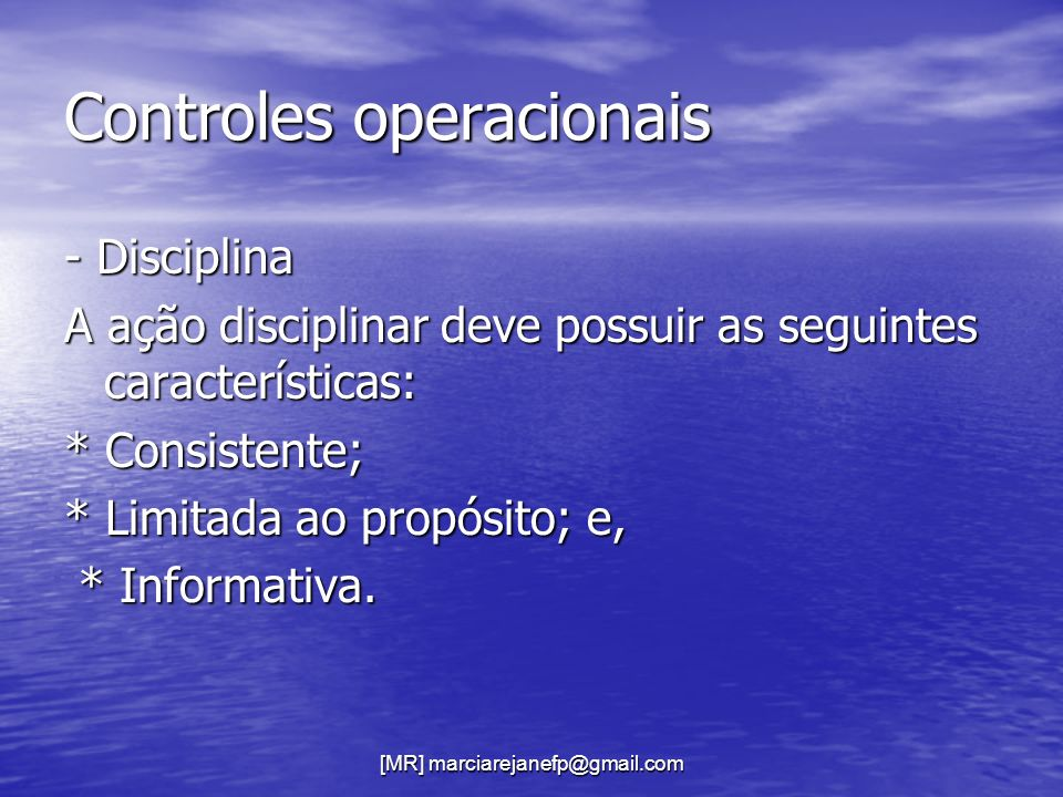 Controles operacionais