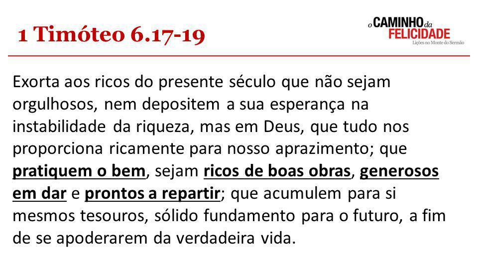 1 Timóteo 6.17-19