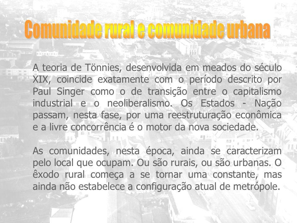 Comunidade rural e comunidade urbana
