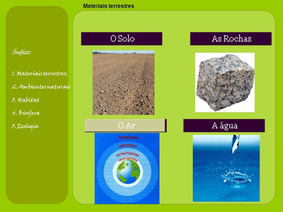 Índice: Materiais terrestres 1. Materiais terrestres;