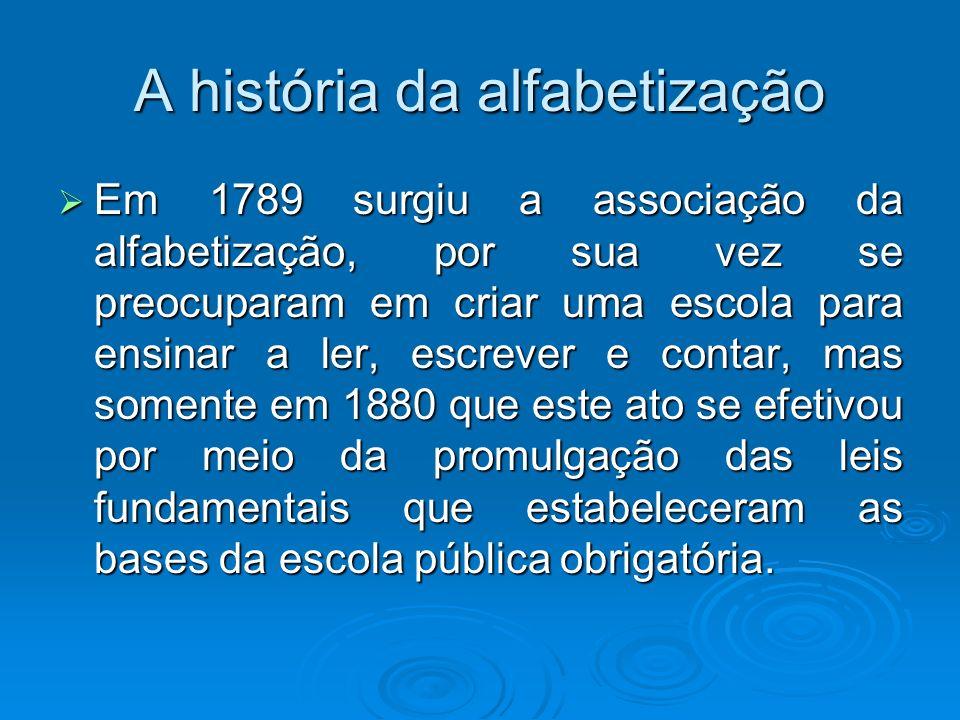 A história da alfabetização