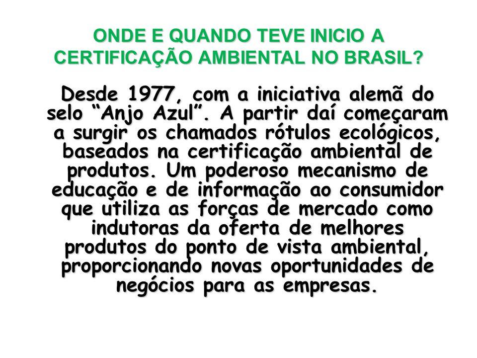 ONDE E QUANDO TEVE INICIO A CERTIFICAÇÃO AMBIENTAL NO BRASIL