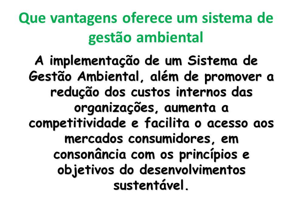Que vantagens oferece um sistema de gestão ambiental