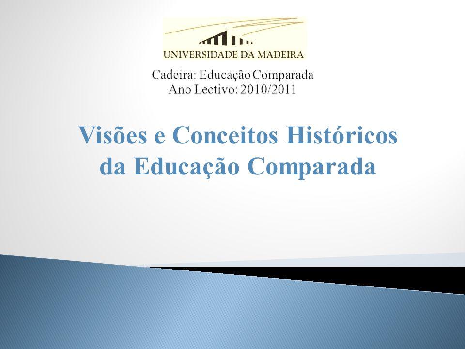 Cadeira: Educação Comparada Ano Lectivo: 2010/2011
