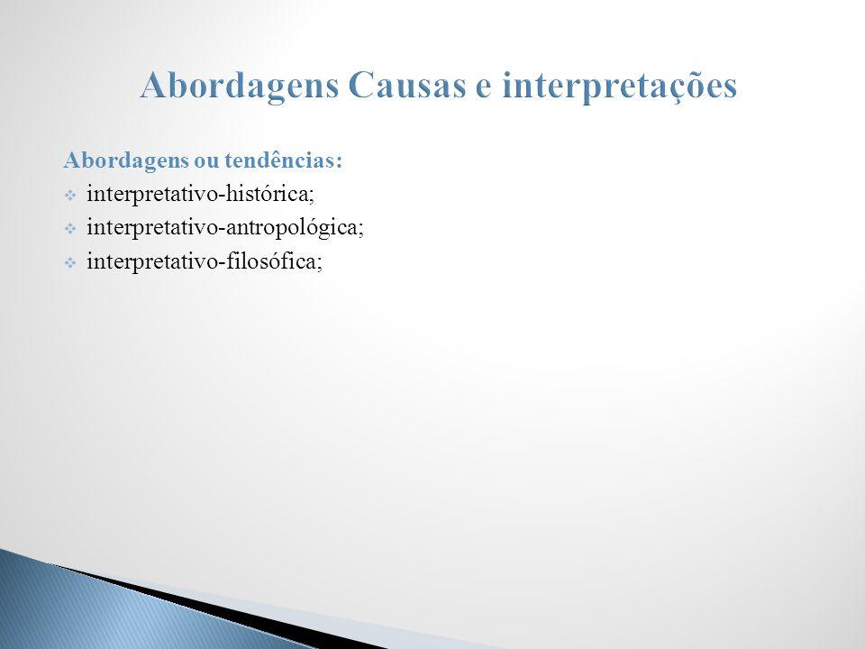 Abordagens Causas e interpretações