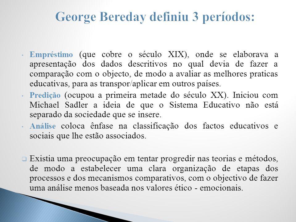 George Bereday definiu 3 períodos: