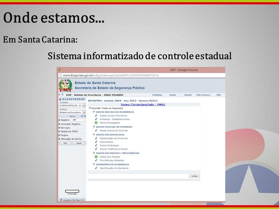 Sistema informatizado de controle estadual