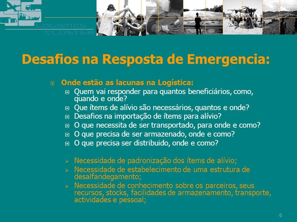 Desafios na Resposta de Emergencia: