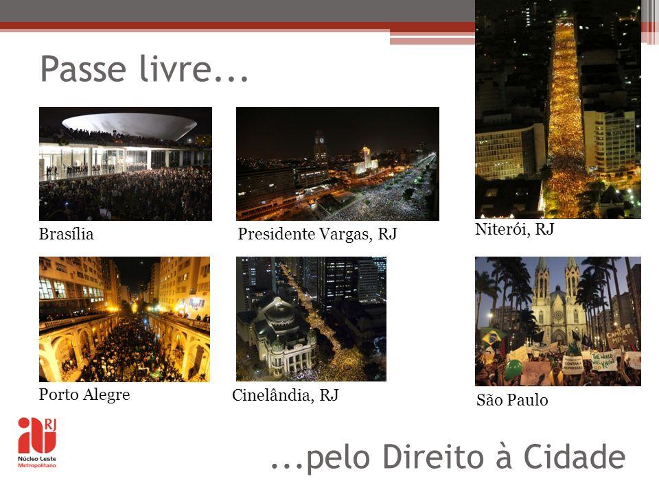 Passe livre... ...pelo Direito à Cidade Niterói, RJ Brasília