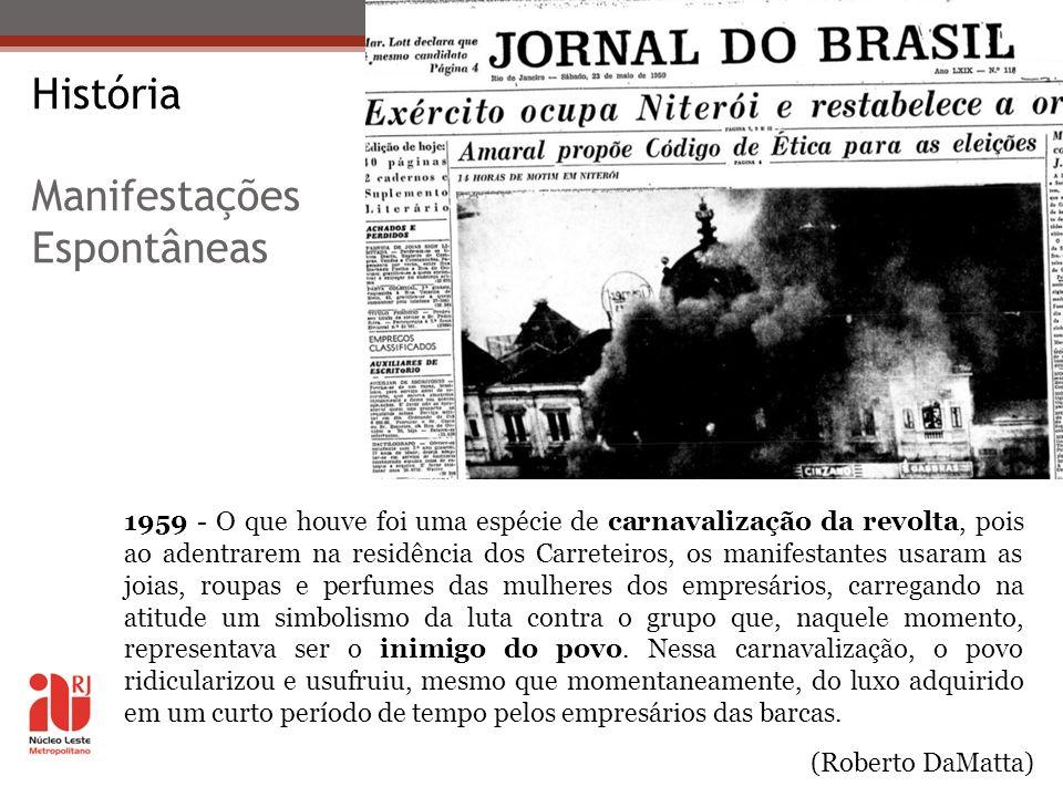 História Manifestações Espontâneas