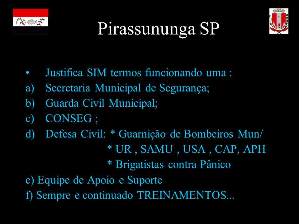 Pirassununga SP Justifica SIM termos funcionando uma :