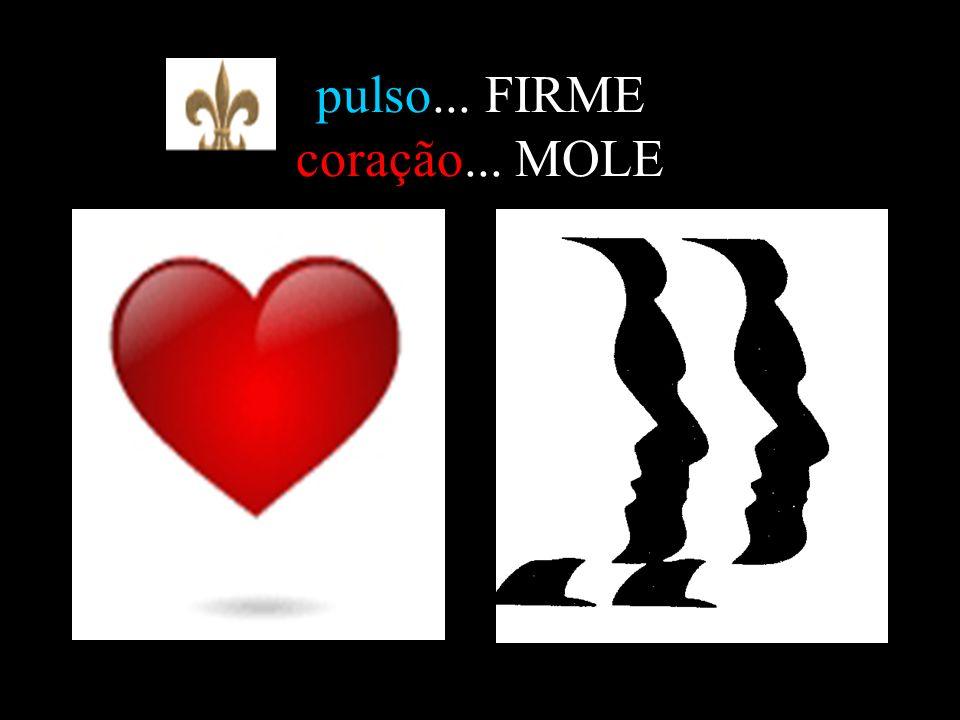 pulso... FIRME coração... MOLE