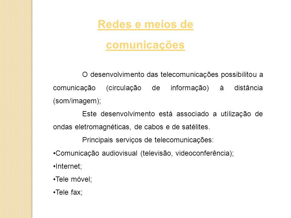 Redes e meios de comunicações