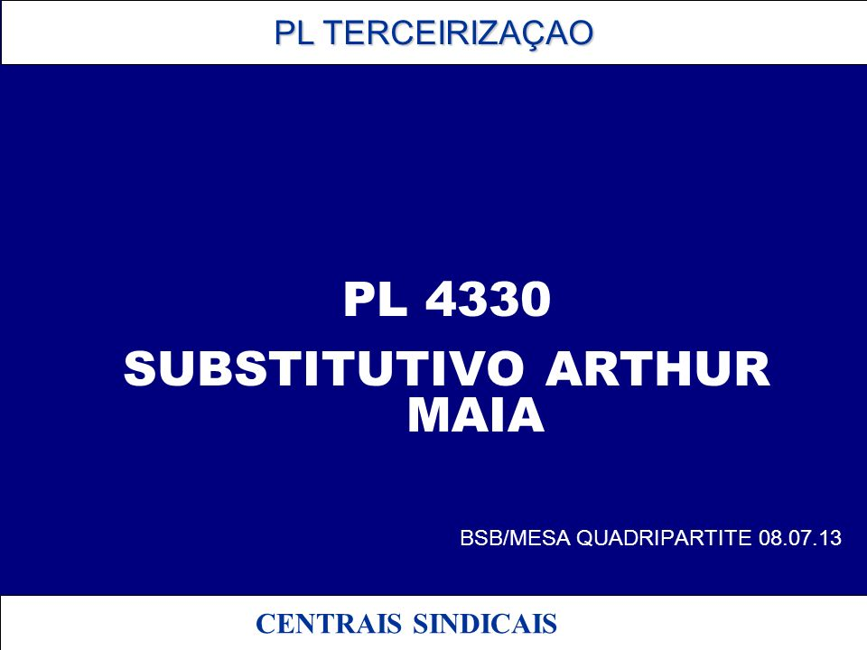 SUBSTITUTIVO ARTHUR MAIA