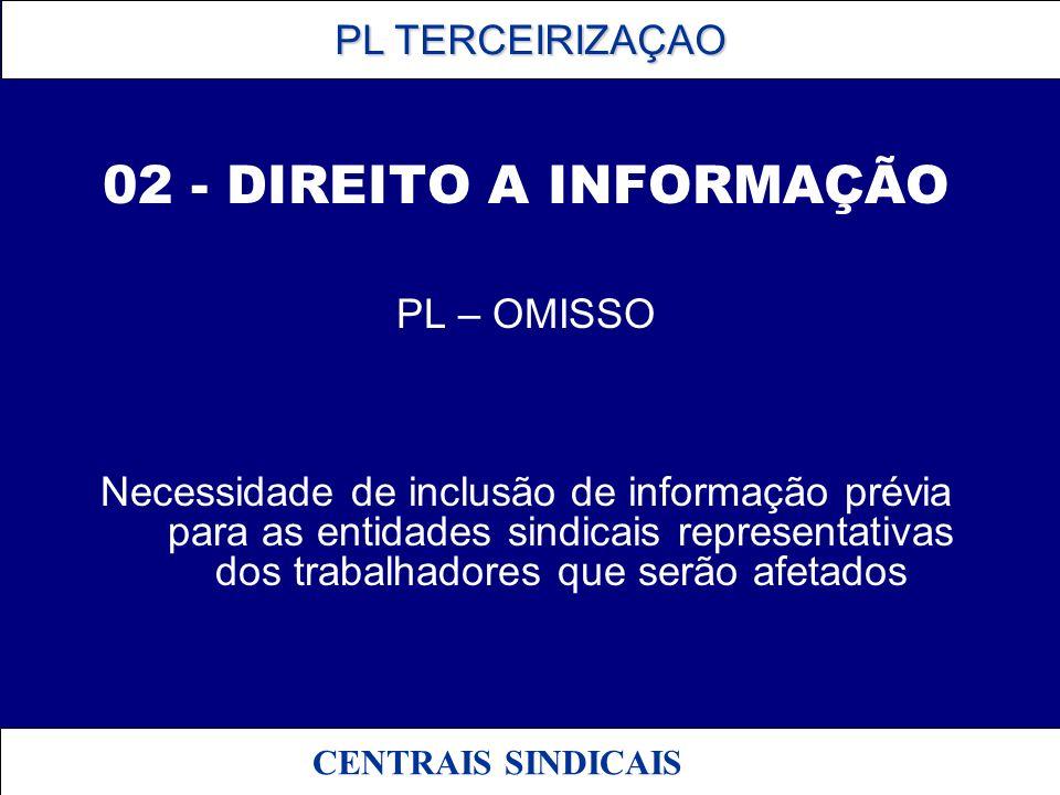 02 - DIREITO A INFORMAÇÃO PL – OMISSO