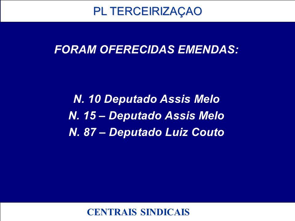 FORAM OFERECIDAS EMENDAS: