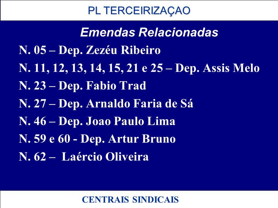 N. 27 – Dep. Arnaldo Faria de Sá N. 46 – Dep. Joao Paulo Lima