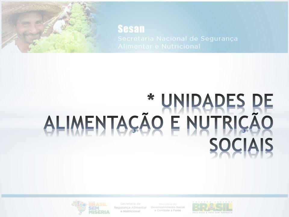 * UNIDADES DE ALIMENTAÇÃO E NUTRIÇÃO SOCIAIS