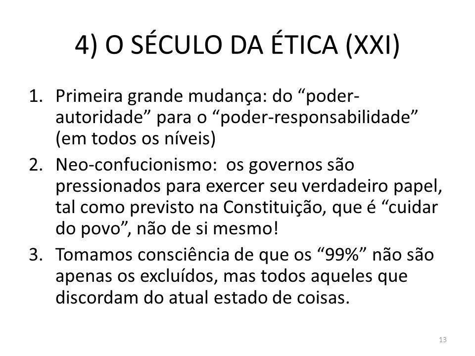 4) O SÉCULO DA ÉTICA (XXI)