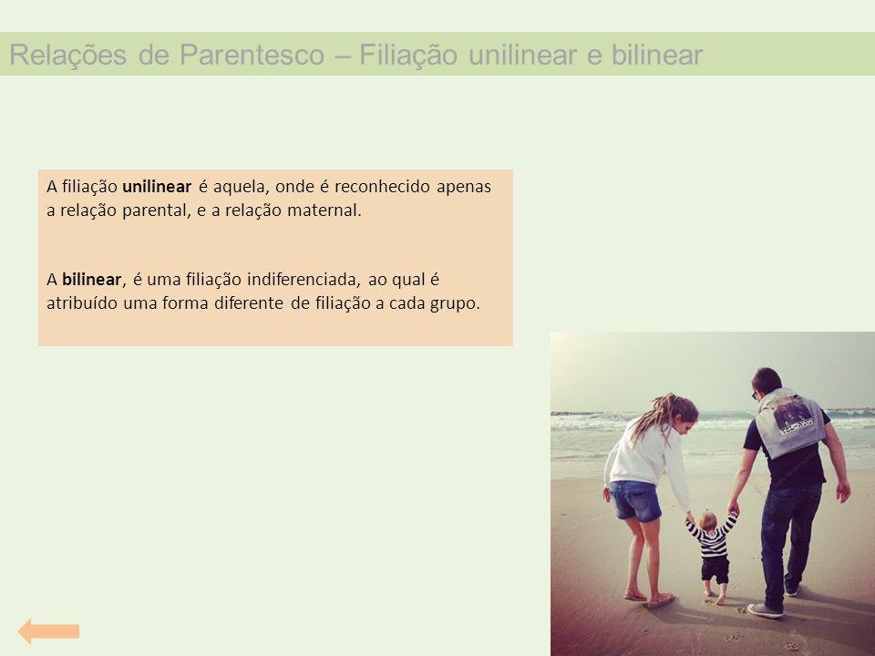Relações de Parentesco – Filiação unilinear e bilinear