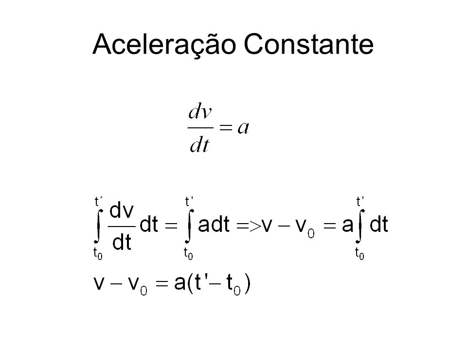 Aceleração Constante