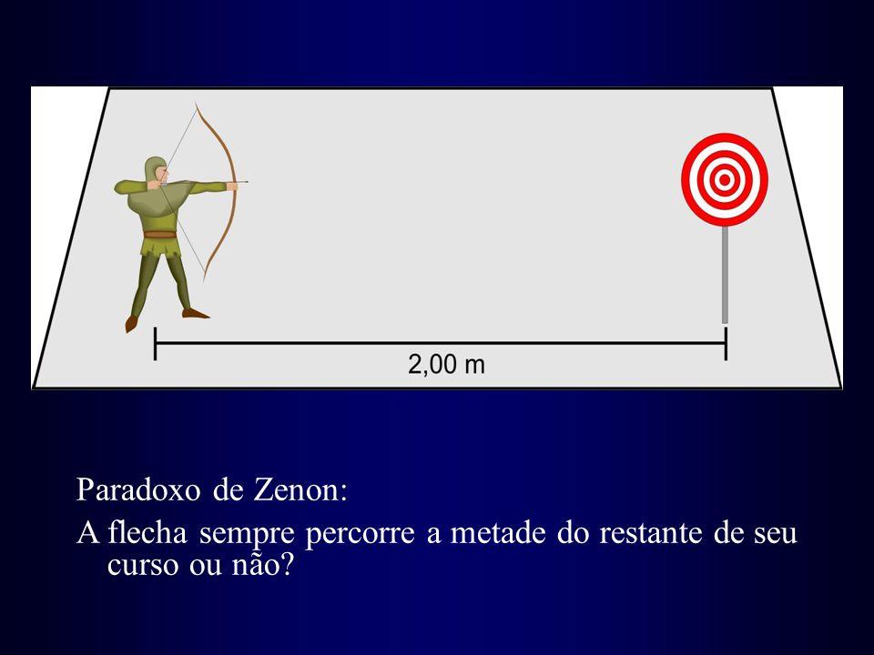 Paradoxo de Zenon: A flecha sempre percorre a metade do restante de seu curso ou não