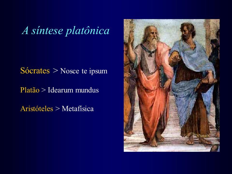 A síntese platônica Sócrates > Nosce te ipsum