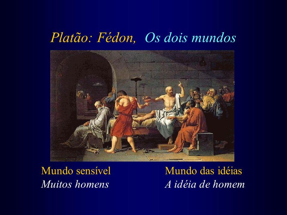 Platão: Fédon, Os dois mundos