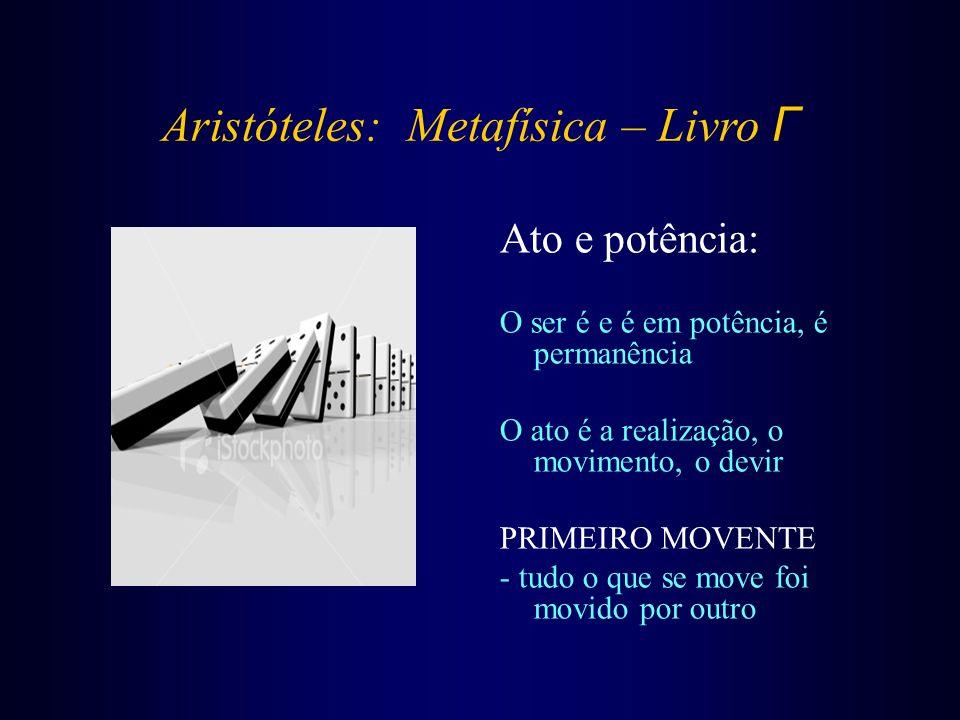 Aristóteles: Metafísica – Livro Γ